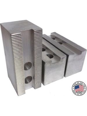 Soft Jaws, Aluminum Flat 1.5MM X 60° Serrations, 6