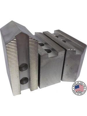 Soft Jaws, Aluminum Pointed 1.5MM X 60° Serrations, 6