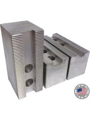 Soft Jaws, Aluminum Flat 1.5MM X 60° Serrations, 8